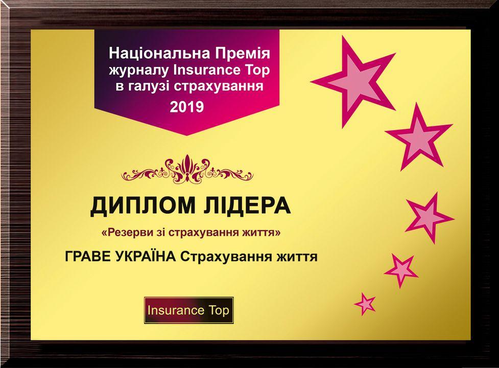 2019 - Лідер у рейтингу «Insurance Top» за розміром страхових резервів