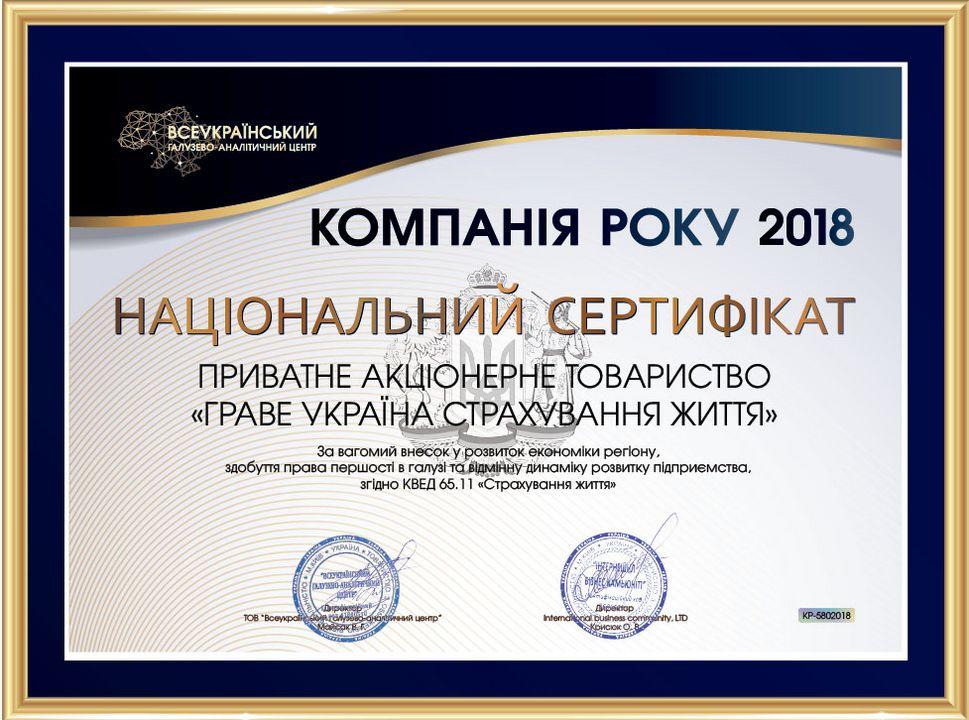 2018 - Компания года