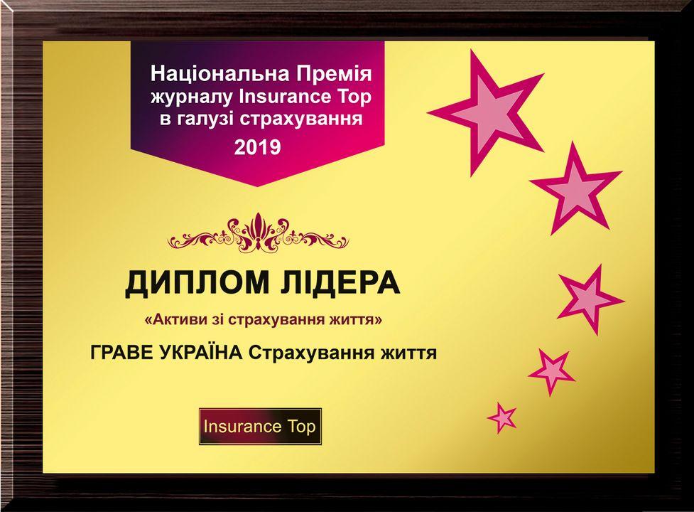 2019 - Лідер у рейтингу «Insurance Top» за розміром активів